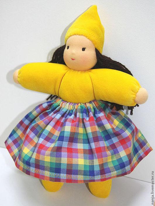 """Вальдорфская игрушка ручной работы. Ярмарка Мастеров - ручная работа. Купить Кукла """"Одуванчик"""". Handmade. Желтый, мягкая кула"""