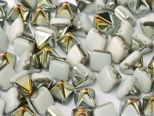 Для украшений ручной работы. Ярмарка Мастеров - ручная работа. Купить Бусина-пирамидка стеклянная чешская 6х6. Handmade.