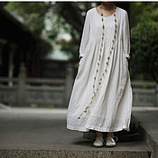 Одежда handmade. Livemaster - original item Dress in the style boho - len. Handmade.