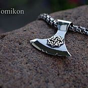 Украшения handmade. Livemaster - original item An axe with a rotifer and a Valkyrie (or other symbols). Handmade.