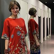 Одежда handmade. Livemaster - original item Silk dress by Dolce Gabbana