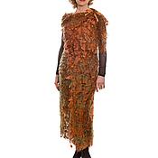 Одежда ручной работы. Ярмарка Мастеров - ручная работа Платье-жилет Осенние листья. Handmade.