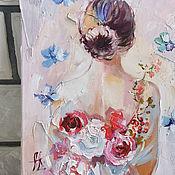 Картины и панно handmade. Livemaster - original item Fairy of flowers-texture painting with flowers. Handmade.
