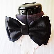 Аксессуары handmade. Livemaster - original item Tie Black Satin Extra Big. Handmade.