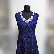 Одежда ручной работы. Ярмарка Мастеров - ручная работа Платье в горошек - ретро. Handmade.