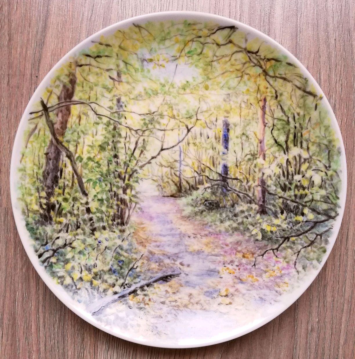 Дорожка в лесу (фарфор), Тарелки, Заокский,  Фото №1