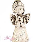 Сувениры и подарки ручной работы. Ярмарка Мастеров - ручная работа Колокольчики из керамики ангелы. Handmade.