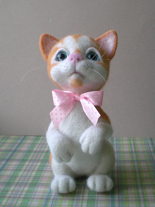 """Игрушки животные, ручной работы. Ярмарка Мастеров - ручная работа. Купить Кошечка """"Маруся"""". Handmade. Авторская игрушка, рыжий кот"""