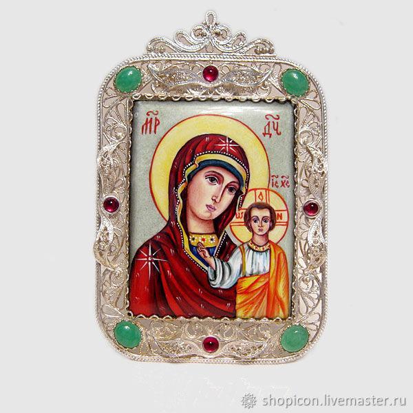 Икона финифть Казанская, Иконы, Москва,  Фото №1
