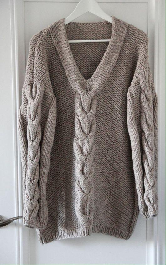 Пуловер из толстой пряжи доставка