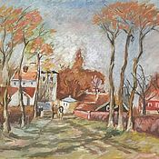 Картины и панно handmade. Livemaster - original item the picture Rural landscape. Handmade.