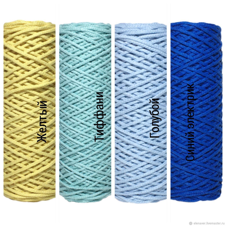 хлопковый шнур для вязания шнур из хлопка макраме хлопковый