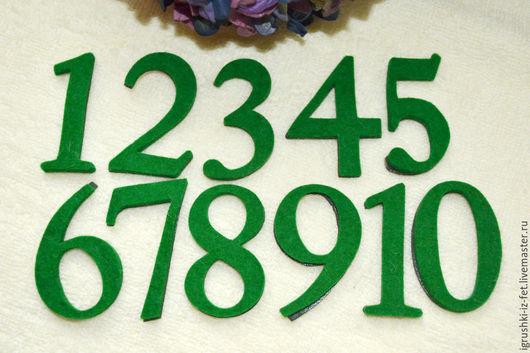 Развивающие игрушки ручной работы. Ярмарка Мастеров - ручная работа. Купить Цифры на магнитах. Handmade. Зеленый, фетр 3 мм