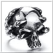 Украшения handmade. Livemaster - original item Men`s Skull ring No. 3 steel. Handmade.
