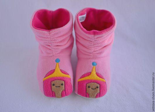 """Обувь ручной работы. Ярмарка Мастеров - ручная работа. Купить Домашние сапожки """"Принцесса Бубль Гум"""". Handmade. Время приключений"""