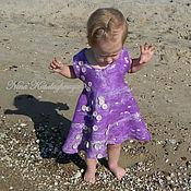 Работы для детей, ручной работы. Ярмарка Мастеров - ручная работа Валяное платье для девочки Зефирное небо. Handmade.