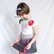 """Работы для детей, ручной работы. Ярмарка Мастеров - ручная работа Валяная юбка для девочки """"Графит"""". Handmade."""