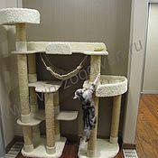 """Для домашних животных, ручной работы. Ярмарка Мастеров - ручная работа Домик для кошки  """"Высота"""" (подходит крупным кошкам). Handmade."""