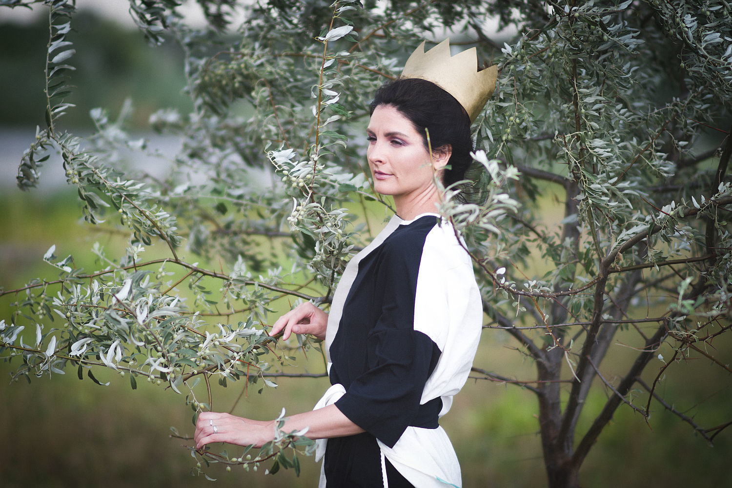 Black and White Linen Blouse Oversize, Blouses, Rostov-on-Don, Фото №1