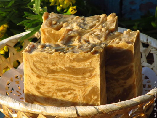 """Мыло ручной работы. Ярмарка Мастеров - ручная работа. Купить Мыло натуральное """"Ним и цинк"""", на пиве, с травами, желтой глиной. Handmade."""