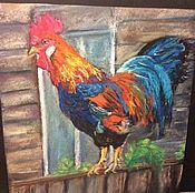 Картины и панно ручной работы. Ярмарка Мастеров - ручная работа Радужный петушок. Handmade.