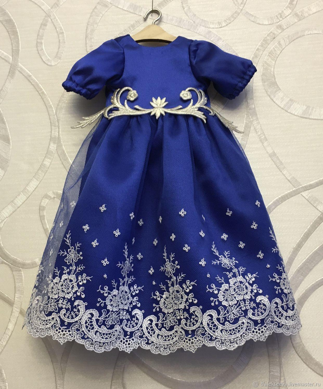 Платье для куклы 'Нарядное, кружево и атлас'', Одежда для кукол, Москва,  Фото №1