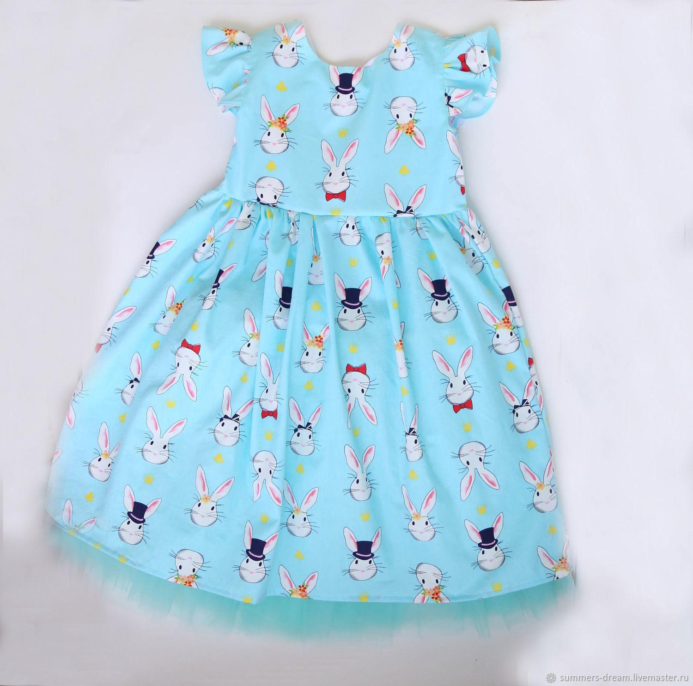 Нарядное платье c зайчиками