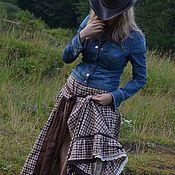 """Одежда ручной работы. Ярмарка Мастеров - ручная работа Длинная юбка бохо """"Латте"""". Handmade."""
