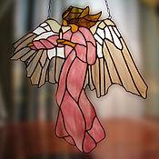 """Для дома и интерьера ручной работы. Ярмарка Мастеров - ручная работа Витраж Подвеска """"Ангел Света"""". Handmade."""