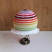 """Работы для детей, handmade. Livemaster - original item Шапочка-панамка для девочки """"Разноцветная карусель"""". Handmade."""