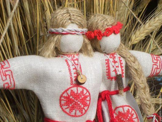 """Народные куклы ручной работы. Ярмарка Мастеров - ручная работа. Купить Кукла """"Неразлучники - Встреча со своей Звездной половинкой"""". Handmade."""
