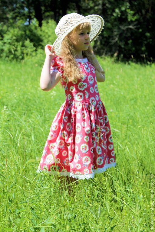 Одежда для девочек, ручной работы. Ярмарка Мастеров - ручная работа. Купить Розовое нарядное платье для девочки в стиле шебби шик на рост  110-116. Handmade.
