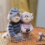 Куклы и игрушки ручной работы. Ярмарка Мастеров - ручная работа Влюбленные котики.... Handmade.