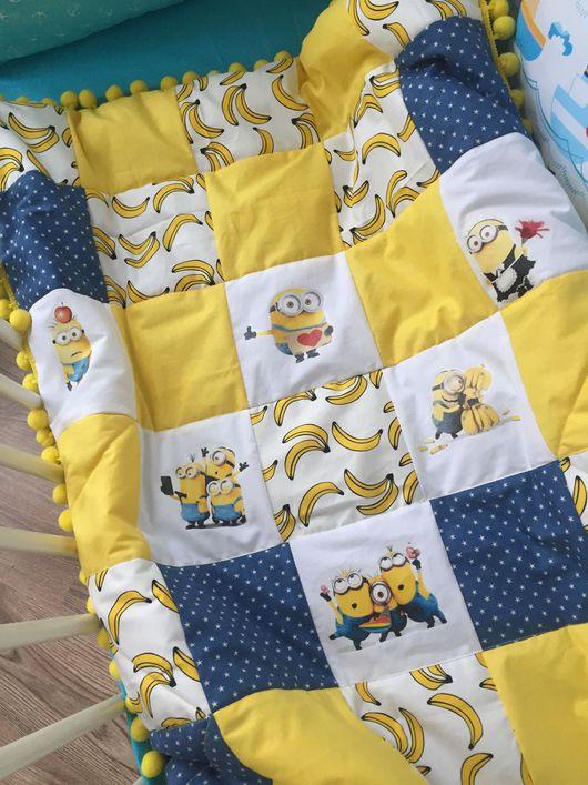 """Для новорожденных, ручной работы. Ярмарка Мастеров - ручная работа. Купить Одеяло """"Банановый миньон"""". Handmade. Одеяло для новорожденного"""