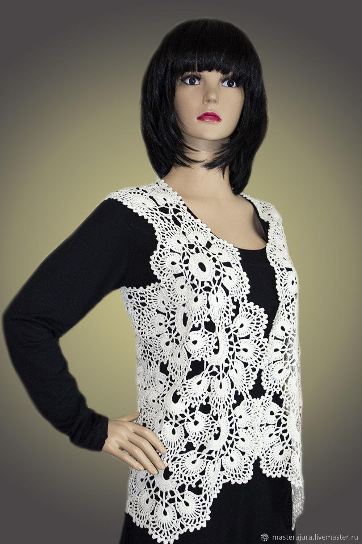 vests: Crocheted waistcoat Charming, Vests, Prokhladny,  Фото №1
