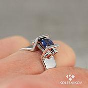 Украшения handmade. Livemaster - original item Sapphire Vice. Ring . silver, sapphire.. Handmade.