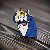 Украшения handmade. Livemaster - original item Wooden icon Snow King. Handmade.