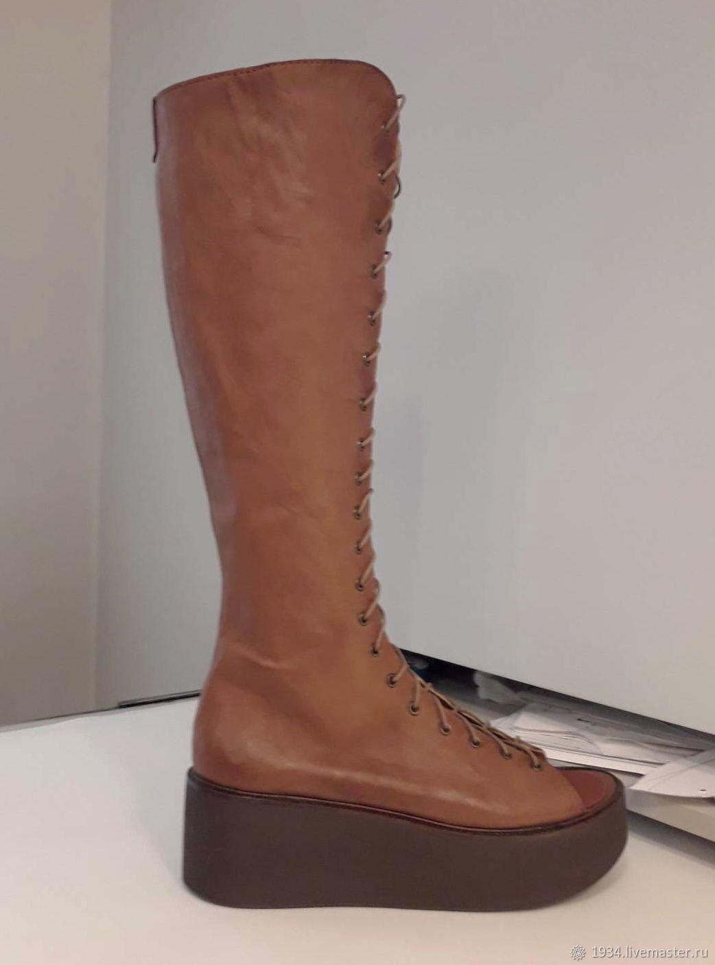 Обувь ручной работы. Ярмарка Мастеров - ручная работа. Купить Сапоги летние SAFARI -S. Handmade. Обувь ручной работы