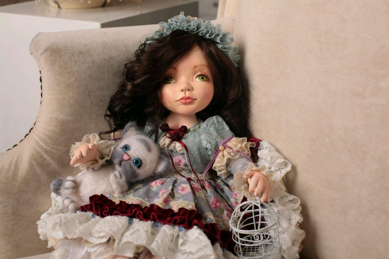 Кукла Лорелея авторская в стиле прованс, , Белая Калитва, Фото №1