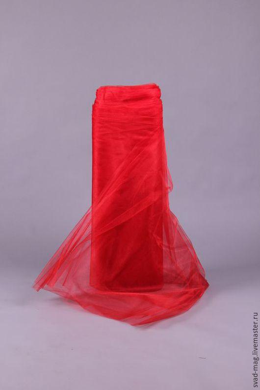 Шитье ручной работы. Ярмарка Мастеров - ручная работа. Купить Фатин мягкий красный, Турция (ширина 3 м). Handmade.