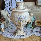 """Для дома и интерьера ручной работы. Ярмарка Мастеров - ручная работа Самовар """"Чай с лимоном"""". Handmade."""