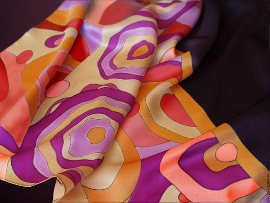 Шали, палантины ручной работы. Ярмарка Мастеров - ручная работа. Купить Платок батик. Платок шелковый. Батик платок. Платок. Батик. Интрига. Handmade.