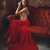 Одежда ручной работы. Ярмарка Мастеров - ручная работа Вечернее платье с кружевом. Handmade.