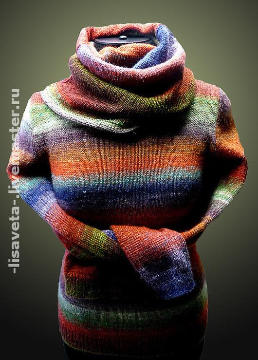 """Кофты и свитера ручной работы. Ярмарка Мастеров - ручная работа. Купить Свитер с """"хомутом"""". Handmade. Водолазка, свитер женский, мохер"""