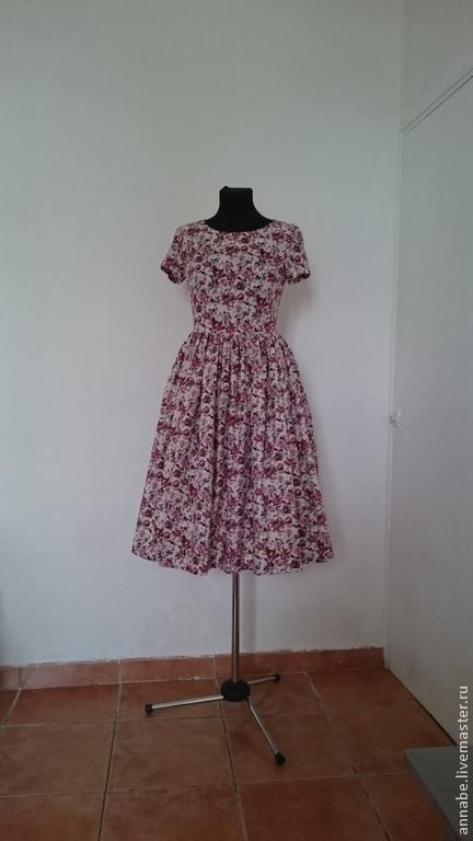 Платья ручной работы. Ярмарка Мастеров - ручная работа. Купить Платье Shabby Pink Хлопок 100%. Handmade. Бледно-розовый