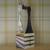 """Для дома и интерьера ручной работы. Ярмарка Мастеров - ручная работа короб для вина """"Прованс """". Handmade."""