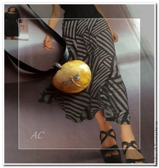 """Кулоны, подвески ручной работы. Ярмарка Мастеров - ручная работа. Купить Кулон """"Стрекозка"""". Handmade. Желтый, янтарь, кулоны из янтаря"""