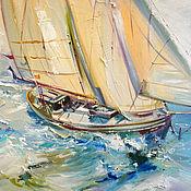 Картины и панно handmade. Livemaster - original item Pearl of the sea - oil painting. Handmade.