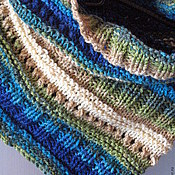 Аксессуары handmade. Livemaster - original item Snood scarf Brown Beige Gray Green Blue. Handmade.