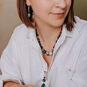 Украшения handmade. Livemaster - original item Necklace with agate